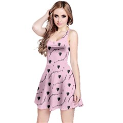Love Hearth Pink Pattern Reversible Sleeveless Dress