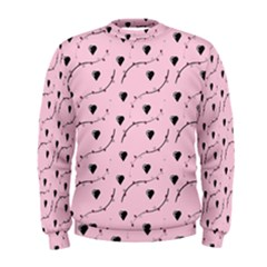 Love Hearth Pink Pattern Men s Sweatshirt