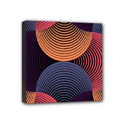 Geometric Swirls Mini Canvas 4  X 4