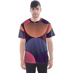 Geometric Swirls Men s Sports Mesh Tee