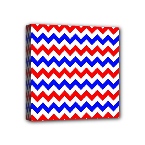 Zig Zag Pattern Mini Canvas 4  X 4