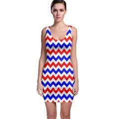 Zig Zag Pattern Bodycon Dress