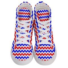 Zig Zag Pattern Men s Hi Top Skate Sneakers