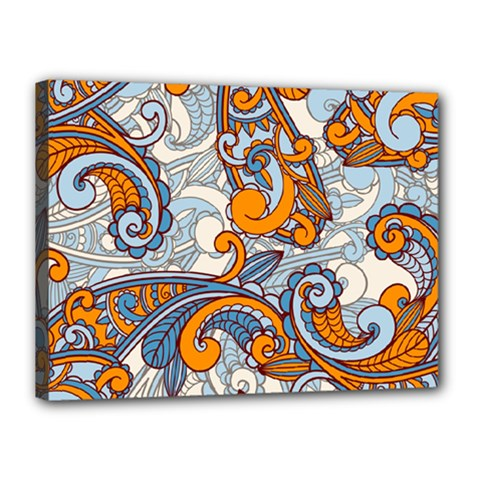 Paisley Pattern Canvas 16  X 12