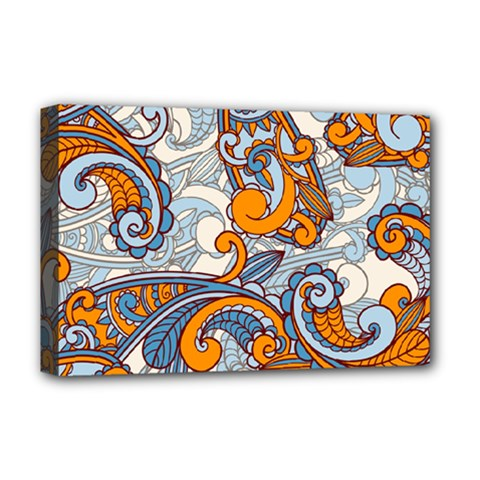 Paisley Pattern Deluxe Canvas 18  X 12