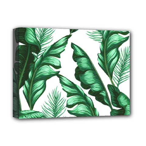Banana Leaves And Fruit Isolated With Four Pattern Deluxe Canvas 16  X 12