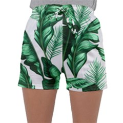 Banana Leaves And Fruit Isolated With Four Pattern Sleepwear Shorts