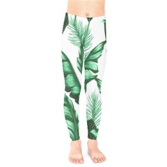 Banana Leaves And Fruit Isolated With Four Pattern Kids  Legging