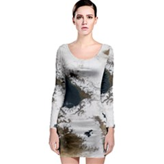 Winter Olympics Long Sleeve Bodycon Dress