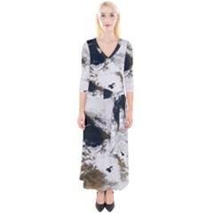 Winter Olympics Quarter Sleeve Wrap Maxi Dress
