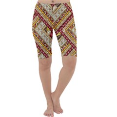 Ethnic Pattern Styles Art Backgrounds Vector Cropped Leggings
