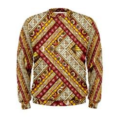 Ethnic Pattern Styles Art Backgrounds Vector Men s Sweatshirt