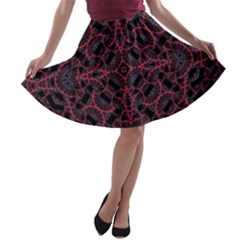 Modern Ornate Pattern A Line Skater Skirt