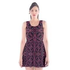 Modern Ornate Pattern Scoop Neck Skater Dress