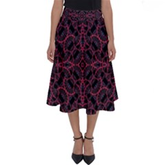 Modern Ornate Pattern Perfect Length Midi Skirt