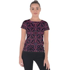 Modern Ornate Pattern Short Sleeve Sports Top