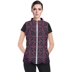Modern Ornate Pattern Women s Puffer Vest