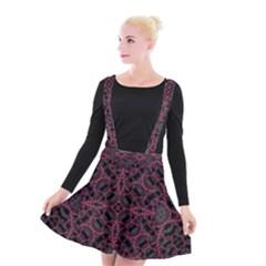 Modern Ornate Pattern Suspender Skater Skirt
