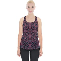Modern Ornate Pattern Piece Up Tank Top