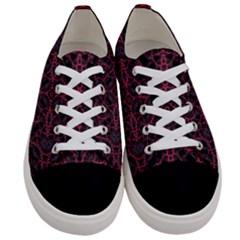 Modern Ornate Pattern Women s Low Top Canvas Sneakers