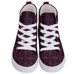 Modern Ornate Pattern Kid s Hi Top Skate Sneakers