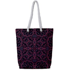 Modern Ornate Pattern Full Print Rope Handle Tote (small)
