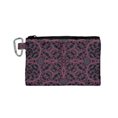 Modern Ornate Pattern Canvas Cosmetic Bag (small)