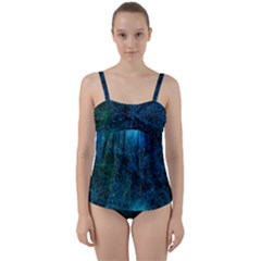 System Network Connection Connected Twist Front Tankini Set