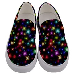 Fireworks Rocket New Year S Day Men s Canvas Slip Ons