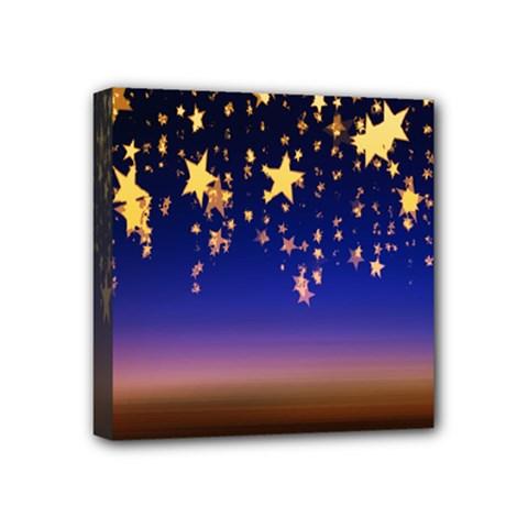 Christmas Background Star Curtain Mini Canvas 4  X 4