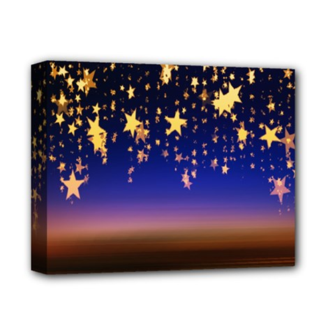 Christmas Background Star Curtain Deluxe Canvas 14  X 11