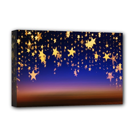 Christmas Background Star Curtain Deluxe Canvas 18  X 12