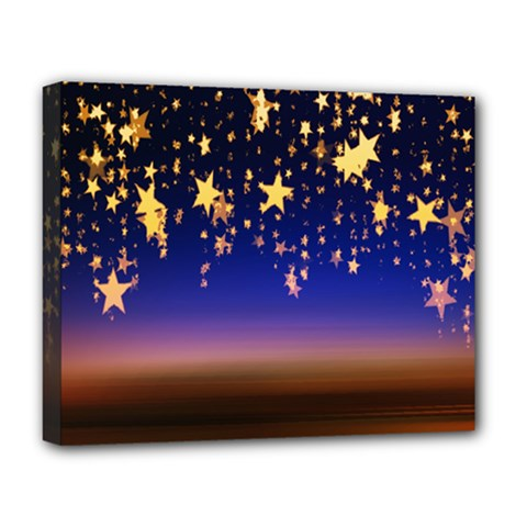 Christmas Background Star Curtain Deluxe Canvas 20  X 16