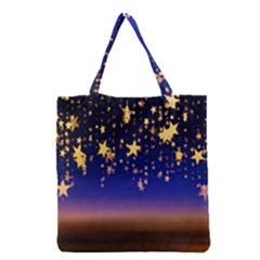 Christmas Background Star Curtain Grocery Tote Bag