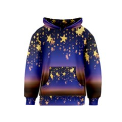 Christmas Background Star Curtain Kids  Pullover Hoodie