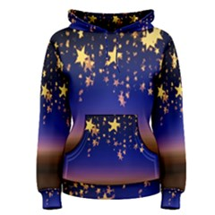 Christmas Background Star Curtain Women s Pullover Hoodie