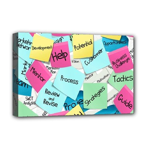 Stickies Post It List Business Deluxe Canvas 18  X 12