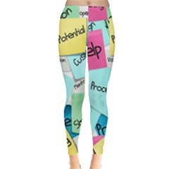 Stickies Post It List Business Leggings