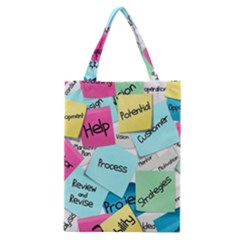 Stickies Post It List Business Classic Tote Bag