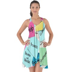 Stickies Post It List Business Show Some Back Chiffon Dress