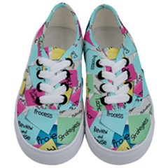 Stickies Post It List Business Kids  Classic Low Top Sneakers