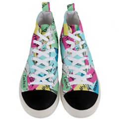 Stickies Post It List Business Men s Mid Top Canvas Sneakers
