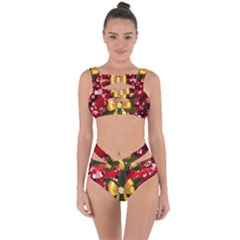 Christmas Star Winter Celebration Bandaged Up Bikini Set