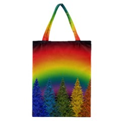 Christmas Colorful Rainbow Colors Classic Tote Bag