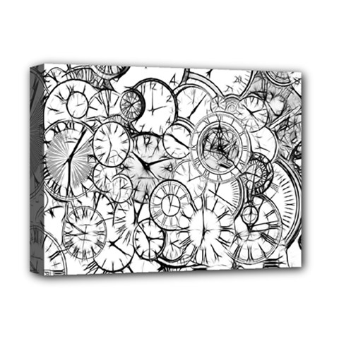 Time Clock Watches Time Of Deluxe Canvas 16  X 12
