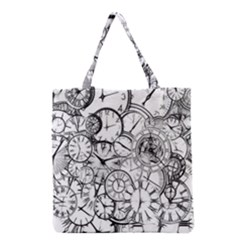 Time Clock Watches Time Of Grocery Tote Bag