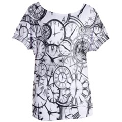 Time Clock Watches Time Of Women s Oversized Tee