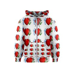 Cross Heart Anchor Love Hope Kids  Zipper Hoodie