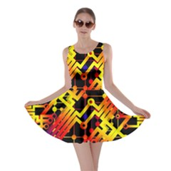 Board Conductors Circuits Skater Dress