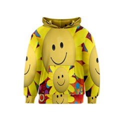 Sun Laugh Rays Luck Happy Kids  Pullover Hoodie
